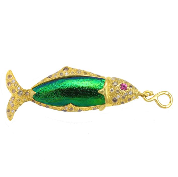 Sylvie Corbelin, pendentif poisson.