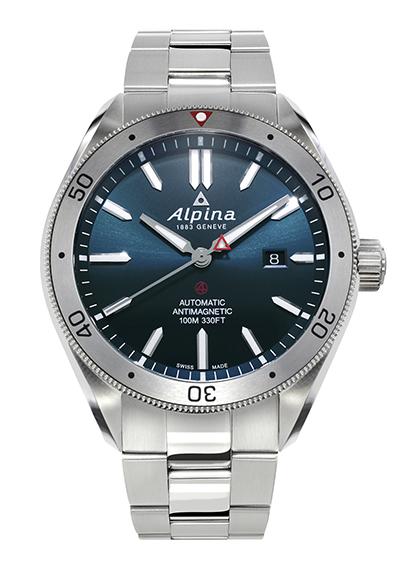 ALPINA - Alpiner 4 automatique - acier cadran bleu - soldat - AL-525NS5AQ6B