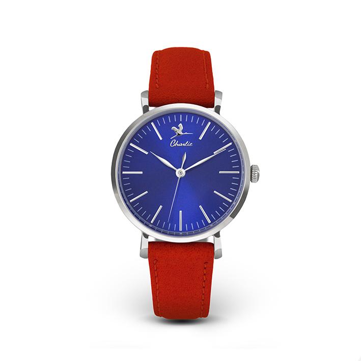 CHARLIE WATCH, modèle Sully acier fond bleu pour femme. 125 €