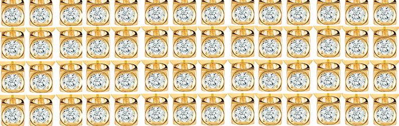 Dinh van pare ses Cubes d'or jaune et de diamants