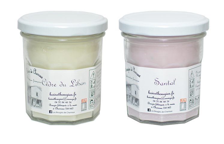 Bougies de Charroux, parfums d'ailleurs, d'intérieur
