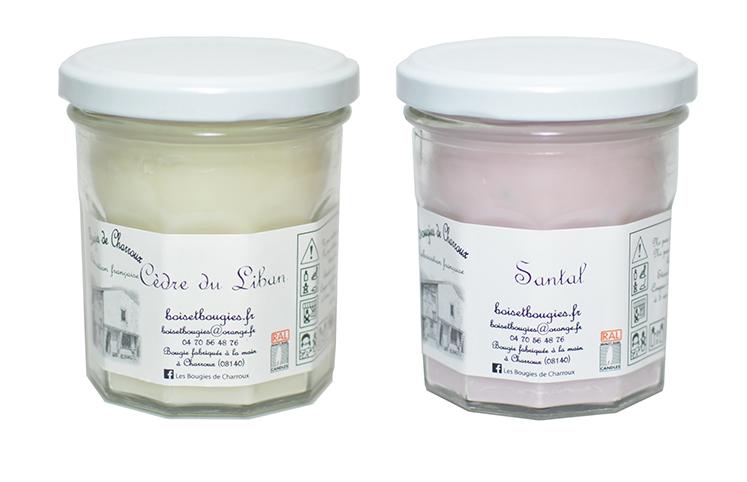 Bougies de Charroux, Santal et Cèdre du Liban, une synergie de deux fragrances, chaudes et épicées
