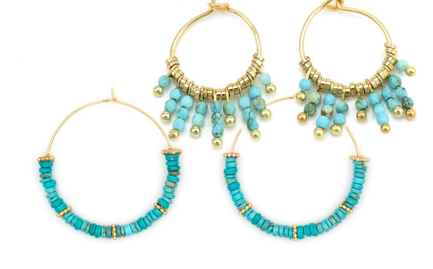 Bijoux Luj Paris, l'hommage au bleu céleste et turquoise