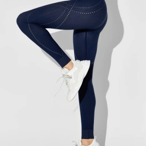 Seamless Ribbed Contrast Leggings By DION LEE X CARBON38