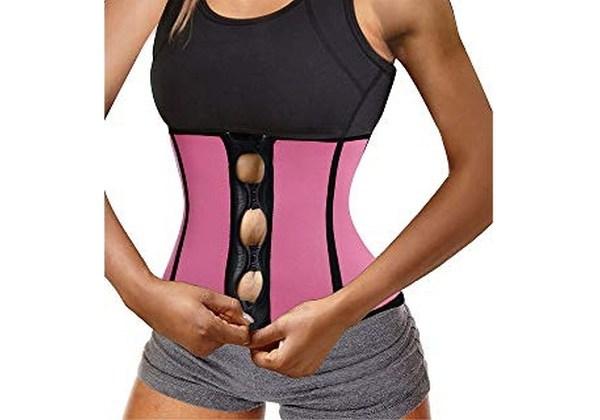 BRABIC Women's Neoprene Zipper & Buckle Waist Trainer@ShoppingExclusves.com