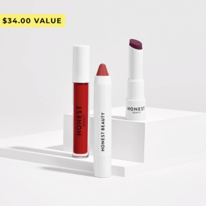 HOLIDAY ROUGE LIP COLOR TRIO By HONEST BEAUTY @ ShoppingExclusives.com