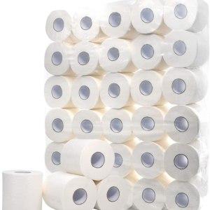 white hollow roll paper toilet paper bulk toilet paper