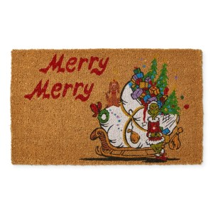 Holiday Style Merry Grinch Doormat Shopping Exclusives