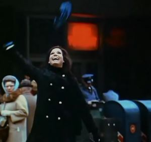 Mary Tyler Moore made the pom-pom beret an expression of the joy in self-empowerment