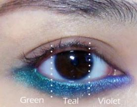 Oceanic Ombre highlights brown eyes or try this effect with other colors for other eye shades