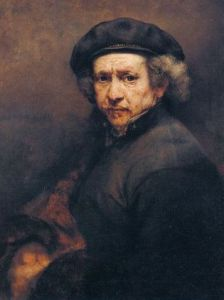 Rembrandt van Rijn rocks a black beret and the corresponding attitude to go with it