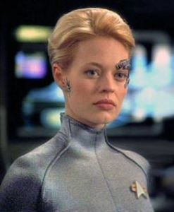 Eyebrow Appliques. Not Just For Robo Girls, Also Hot This Season. (Jeri Ryan as Seven of Nine from Star Trek Voyager.)