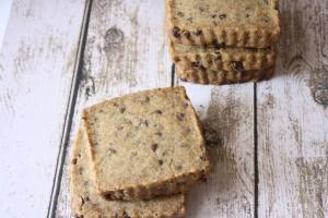With a strong espresso presence, espresso chocolate chip shortbread is my dream breakfast