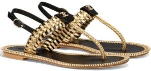 Chanel 2018 Cruise Season Sandals #02 in Dark Gold and Black