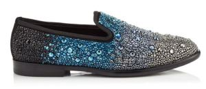 Marlo/F Loafer by Jimmy Choo with Blue-Black Crystal Ombre Effect