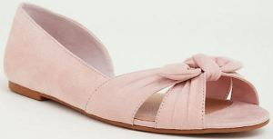 Torrid's Shoes Fit a Wide Foot. The Bow D'Orsay Flat in Blush Pink or Black Faux Suede Will Do It All, Almost