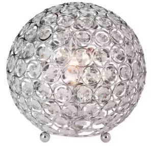 A glam, sparkling ball of gems to accent Mom's nightstand. Elegant Design Crystal Ball Sequin Chrome Table Lamp. Overstock.Com