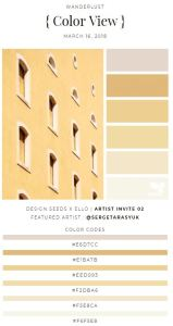 Design Seeds palette demonstrates the power of layering multiple similar tones of one main shade. Design-Seeds.Com