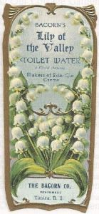 Old Perfume Label for Lily of the Valley Toilette Water. Photo via Pinterest.