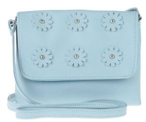 The 3D Flower crossbody by Capelli New York is pretty, classic, practical, and features distinctive but not overbearing detailing. Nordstrom.com.