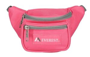 Everest Kids waist pack features two zippered compartments, an adjustable waistband, sturdy washable fabric, & choice of colors. BeltOutlet.com.