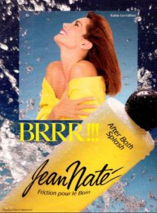 Jean Nate ad from the 1980s featuring Kathy Lee Gifford. Photo via LikeSuccess.com.