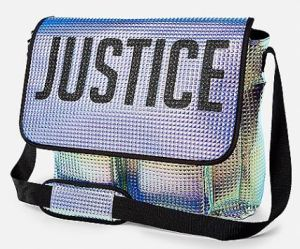 Justice for All. A brilliant, practical messenger bag with graphic intensity. ShopJustice.com.