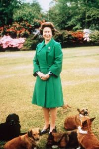 Queen Elizabeth nails the 2/3 - 1/3 scheme. Corgies (or any doggies) of course are always great accessories.
