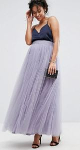 Summertime Moms-to-be, here is your cruise formal wear solution. Little Mistress Maternity Maxi Tulle Skirt available at USAsos.com.