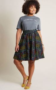 Summer is for the Nerds. Brew up an incendiary chemical reaction, hit the Science Center, or discover new worlds at Summer-night astronomy parties in this Periodic Table print circle skirt. Lively Vibe by Retrolicious. Modcloth.com.