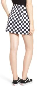 Not news to Hipster, Retro, Rockabilly, and Nerd Shoppinggirls: There are so many places you can wear this Checkered Denim Mini Skirt by Tinsel. Nordstrom.com.