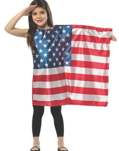 With elections coming up, this is a timely costume which can also be worn on patriotic holidays. It comes in adult sizes too. orientaltrading.com.