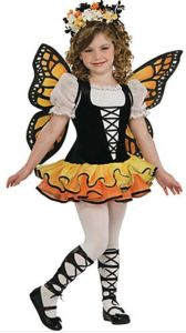 Coordinate a Mother-Daughter-Puppy look this year for the community parade. This Girl's Monarch Butterfly Costume is not only adorable, but offers great play value after Halloween. orientaltrading.com