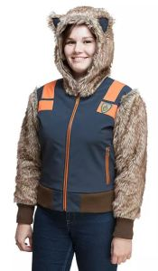 Perfect easy costume option to take the kids Trick-or-Treating, or to wander aimlessly through the corn maze. Guardians of the Galaxy Rocket Racoon Jacket is practical and cute. thinkgeek.com.