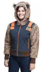 Perfect easy costume option to take the kids Trick-or-Treating, or to wander aimlessly through the corn maze. Guardians of the Galaxy Rocket Raccoon Jacket is practical and cute. thinkgeek.com.