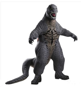 Highly rated, of course. This Boy's Inflatable Godzilla Costume includes a battery operated fan to keep the mass massive. Insane replay value. Also comes in grown-up ShoppingGirl sizes. You know you want to. orientaltrading.com.