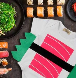 Let's not forget PerpetualKid.com as a resource for stuff we likely don't technically need, but that charms us. Like this Maguro Sushi Infant Bodysuit Costume. They also have the Ebi flavor, if you like that better. perpetualkid.com.