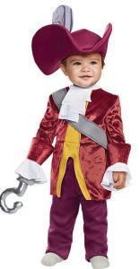 They Seek Him Here...They Seek Him There....A dashing variety of costume possibilities await with this Baby Boy Classic Peter Pan Captain Hook Costume. Or do a family Peter Pan group theme. orientaltrading.com.