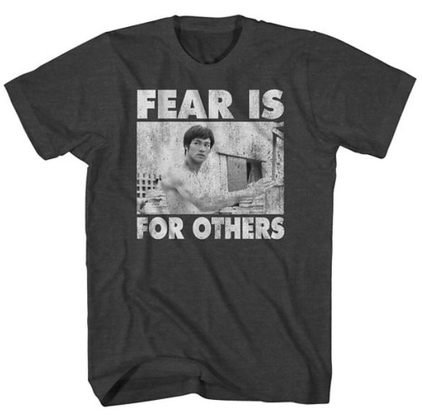 Bruce Lee knew that we haven't been given a spirit of Fear. Photo via target.com.