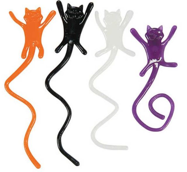 Get 72 Sticky Cats for under $6.50. Hand them out, or decorate your house like a crazed cat lady. orientaltrading.com.