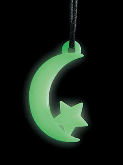 The nighttime vibe of Halloween provides the perfect backdrop for the Glow-In-The-Dark gear that children adore. These Glow-In-The-Dark Moon And Star Necklaces are cute for little wizards, astronomers, or elvenfolk. Each comes on a cord with a plastic pull-apart safety clasp. Set of 48 for $9.99 at orientaltrading.com.