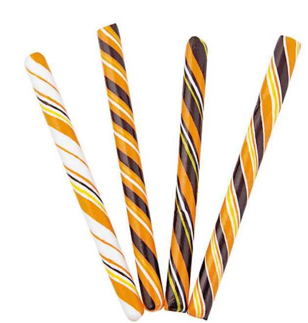 Stylish, retro, orange flavored, and always popular with everyone. Halloween Hard Candy Sticks are great handouts or decorative party treats. 80 pieces. orientaltrading.com