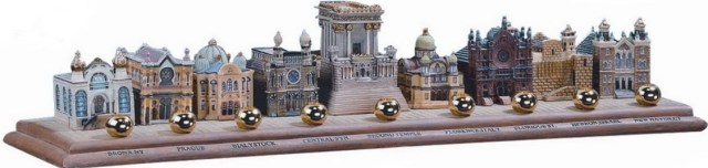Synagogues Of The World Menorah. https://www.traditionsjewishgifts.com/menorah-hanukkah-synagogues-world-gift-RMMEN1.html