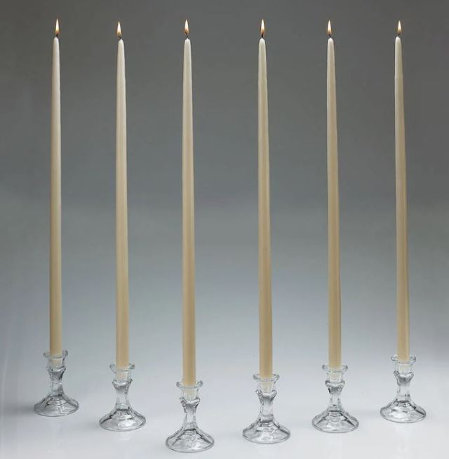 Two feet tall! Set of 12 taper candles. overstock.com