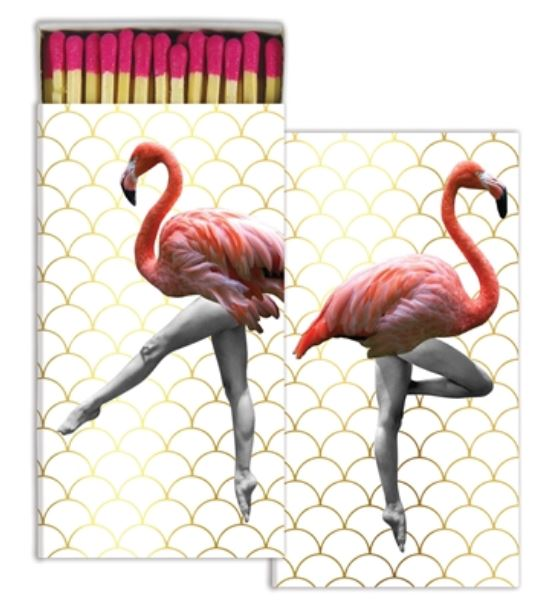 Flamingo Can-Can Decorative Matchbox. https://museumoutlets.com/decorative-boxed-matches/pink-flamingo-can-can-decorative-matchbox