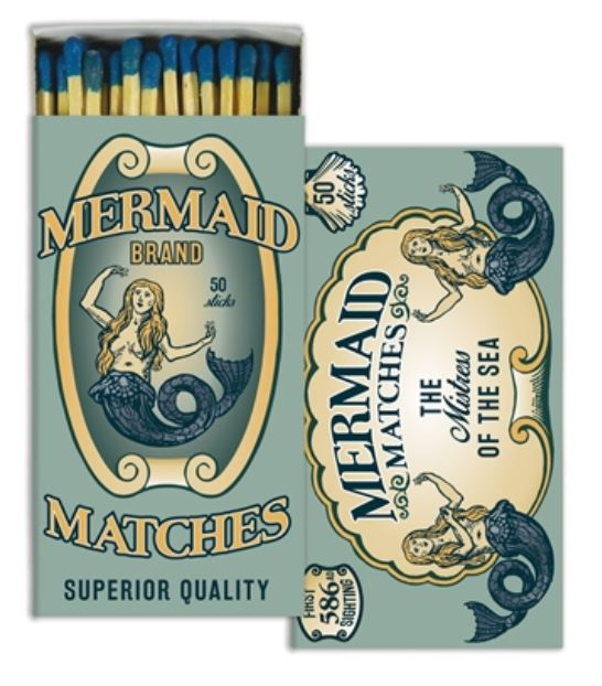 Mermaid Decorative Boxed Matches. https://museumoutlets.com/decorative-boxed-matches/mermaid-decorative-boxed-matches