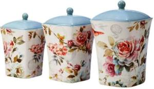 Certified International Beautiful Romance 3 Piece Canister Set at Overstock.com
