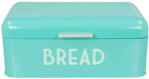 Home Basics Retro Stainless Steel Bread Box in Turquoise, also comes in Yellow, at Overstock.com