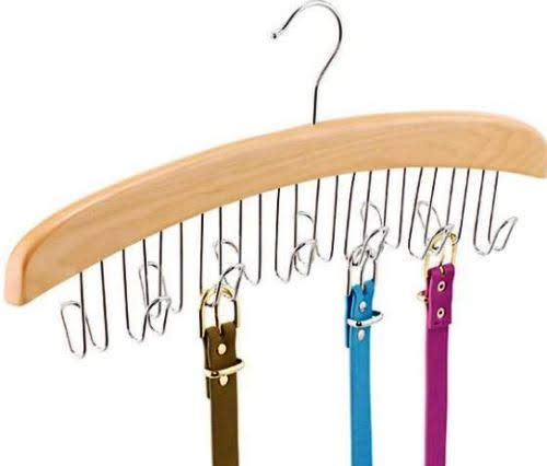 Natural Hanger Belt Organizer. Containerstore.com.
