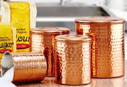 Old Dutch Hammered Copper 4 Piece Canister Set at Overstock.com